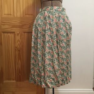 vintage pastel floral maxi skirt